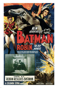 1949 BATMAN & ROBIN movie poster DIR S GORDON BENNETT adventure  24X36 NEW