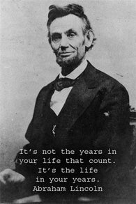ABRAHAM LINCOLN inspirational poster QUOTE 24X36 B/W pic PRESIDENT historic