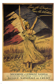 For the flag! For VICTORY vintage poster Georges Scott 1917 FRANCE 24X36