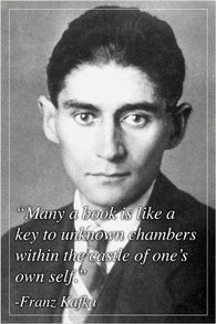 FRANZ KAFKA photo quote poster INSPIRATIONAL MOTIVATIONAL collectors 24X36