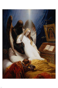 Emil Jean Horace Vernet THE ANGEL OF DEATH 24X36 Fine Art Poster FRENCH GEM