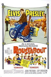 1964 ROUSTABOUT movie poster ELVIS PRESLEY barbara stanwyck MOTORCYCLES 24X36