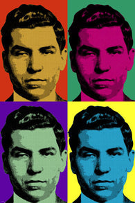 lucky luciano pop art poster 24X36 celebrity GANGSTER LAS VEGAS mafia boss