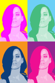 KATY PERRY singer celebrity MULTIPLE IMAGE pop art poster BRIGHT 24X36 new