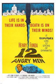 12 angry men VINTAGE MOVIE POSTER henry fonda 24X36 collectors RARE!