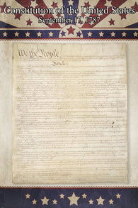 1776 US CONSTITUTION ORIGINAL DOCUMENT POSTER signed historic 24X36
