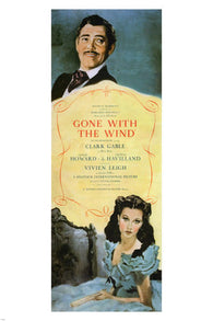 1939 GONE with the WIND MOVIE POSTER victor fleming 1939 GABLE & LEIGH 24X36