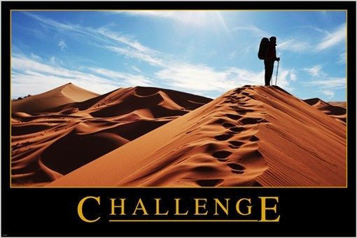 CHALLENGE inspirational and motivational photo poster BLUE SKY SAND 24X36