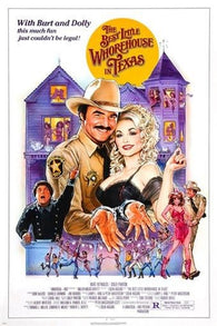 '82 THE BEST LITTLE WHOREHOUSE IN TEXAS movie poster DOLLY PARTON 24X36 sexy