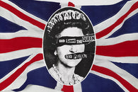 CLASSIC SEX PISTOLS GOD save the QUEEN poster BRITISH flag PUNK 24X36