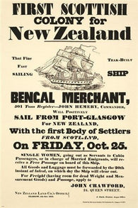 historic VINTAGE AD poster FIRST SCOTTISH colony for NEW ZEALAND 24X36 new