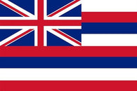 HAWAII OFFICIAL flag poster RED WHITE & BLUE historic political new 24X36