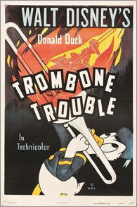 1944 trombone trouble CLASSIC MOVIE POSTER disney's DONALD DUCK 24X36 gem