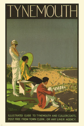 TYNEMOUTH travel poster VINTAGE A. Lambart UK1926 24X36 collectors UNIQUE