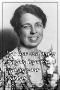 ELEANOR ROOSEVELT quote poster INSPIRATIONAL MOTIVATIONAL political 24X36