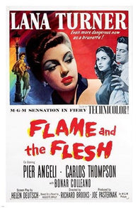 1954 the FLAME and the FLESH vintage movie poster LANA TURNER singer 24X36