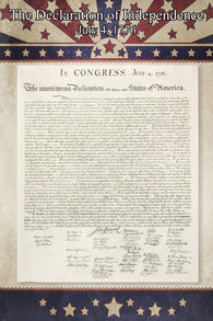 1776 THE DECLARATION OF INDEPENDENCE US OF A poster original 24X36
