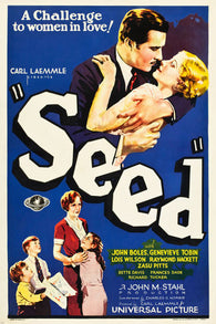 1931 SEED MOVIE POSTER BETTE DAVIS JOHN BOLES twisted family drama 24X36 -PW0