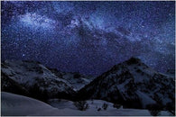 a WINTER NIGHT with MANY STARS inspirational photo poster SKY BEAUTY 24X36