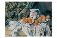 PAUL CEZANNE Still Life With A Curtain FINE ART POSTER 24X36 great painting