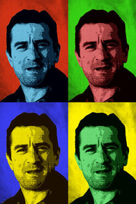 ROBERT DE NIRO celebrity ACTOR pop art poster MULTIPLE IMAGES 24X36 colorful