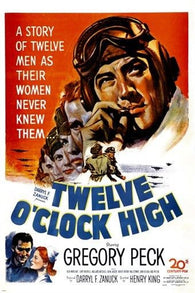1949 TWELVE O'CLOCK HIGH movie poster GREGORY PECK action drama drugs 24X36