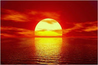 AMAZING SUNSET photo poster AMBER LIGHT red glow EXCEPTIONAL 24X36 rare hot