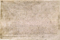 CLASSIC historic document poster THE MAGNA CARTA hand written 24X36 RARE