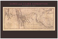 1804-06  LEWIS & CLARK EXPEDITION MAP poster historic topographical 24X36