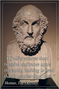 CLASSIC GREEK POET HOMER inspirational motivational QUOTE poster 24X36 HOT