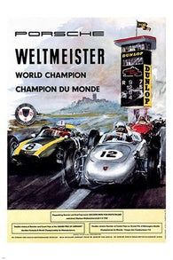 WELTMEISTER WORLD CHAMPION racing car poster STYLE speed 24X36 hot