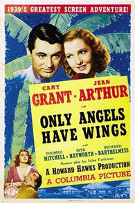 1939 cary GRANT jean ARTHUR only angels have wings MOVIE POSTER 24X36 prized