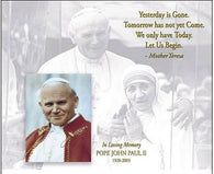 (16x20) In Loving Memory (Pope John Paul II & Mother Teresa) Art Poster Print