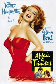 Affair in Trinitad Movie Poster Rita Hayworth Vintage 3