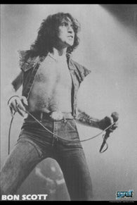 AC/DC Poster Bon Scott Live on Stage B/W
