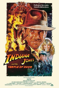 (24x36) Indiana Jones and the Temple of Doom - Group Credits Movie Poster
