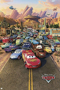 (24x36) Cars Movie (Group, Town) Poster Print by hse