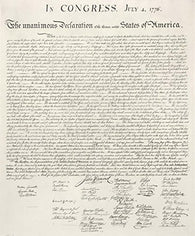 US DECLARATION of INDEPENDANCE POSTER July 4, 1776 - United States RARE HOT NEW 24x29