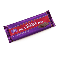 Dark Chocolate Salted Butter Toffee Bar, 85 g - Case of 50