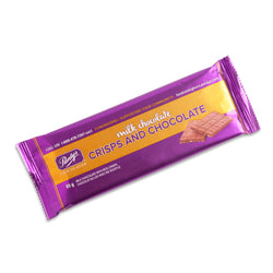 Milk Chocolate with Crisps Bar, 85 g - Case of 50