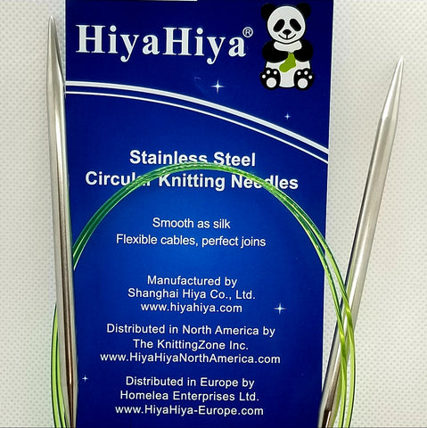 Hiya Hiya Stainless Steel Circular Knitting Needles - 16""