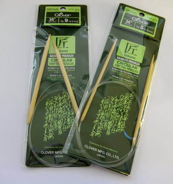 Takumi Bamboo Circular Knitting Needles - 16""