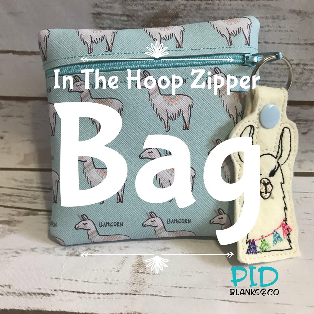 How to make an In The Hoop Zipper Bag