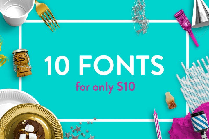 10 for 10 Fonts by The Hungry Jpeg