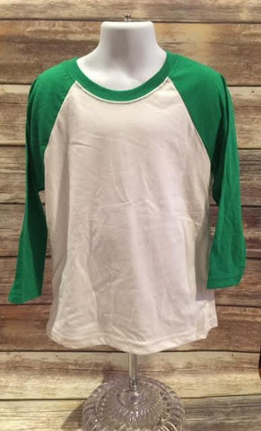 Next Level Youth 3/4 Sleeve Raglan Kelly/White