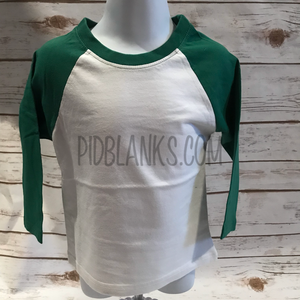 Infant Fine Jersey Raglan Tee Green/White