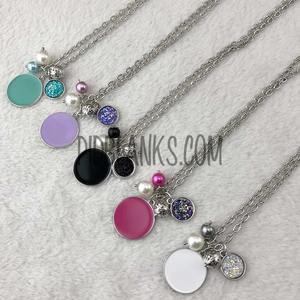 Druzy Disc Charms Pendant