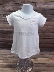 Sheer Jersey Raw Edge Scoop Neck Toddler