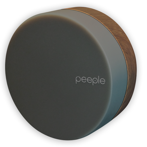 Peeple - Smoke - Wood Colored Bracket