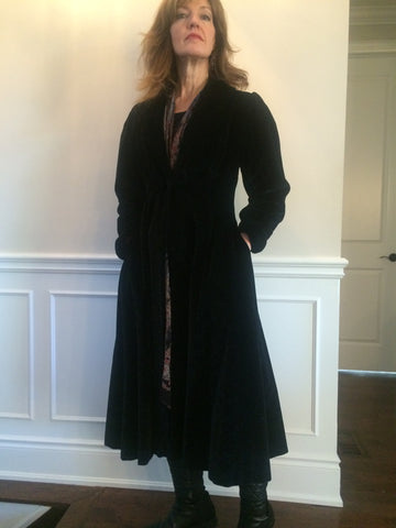 Velvet Phantom Evening Coat